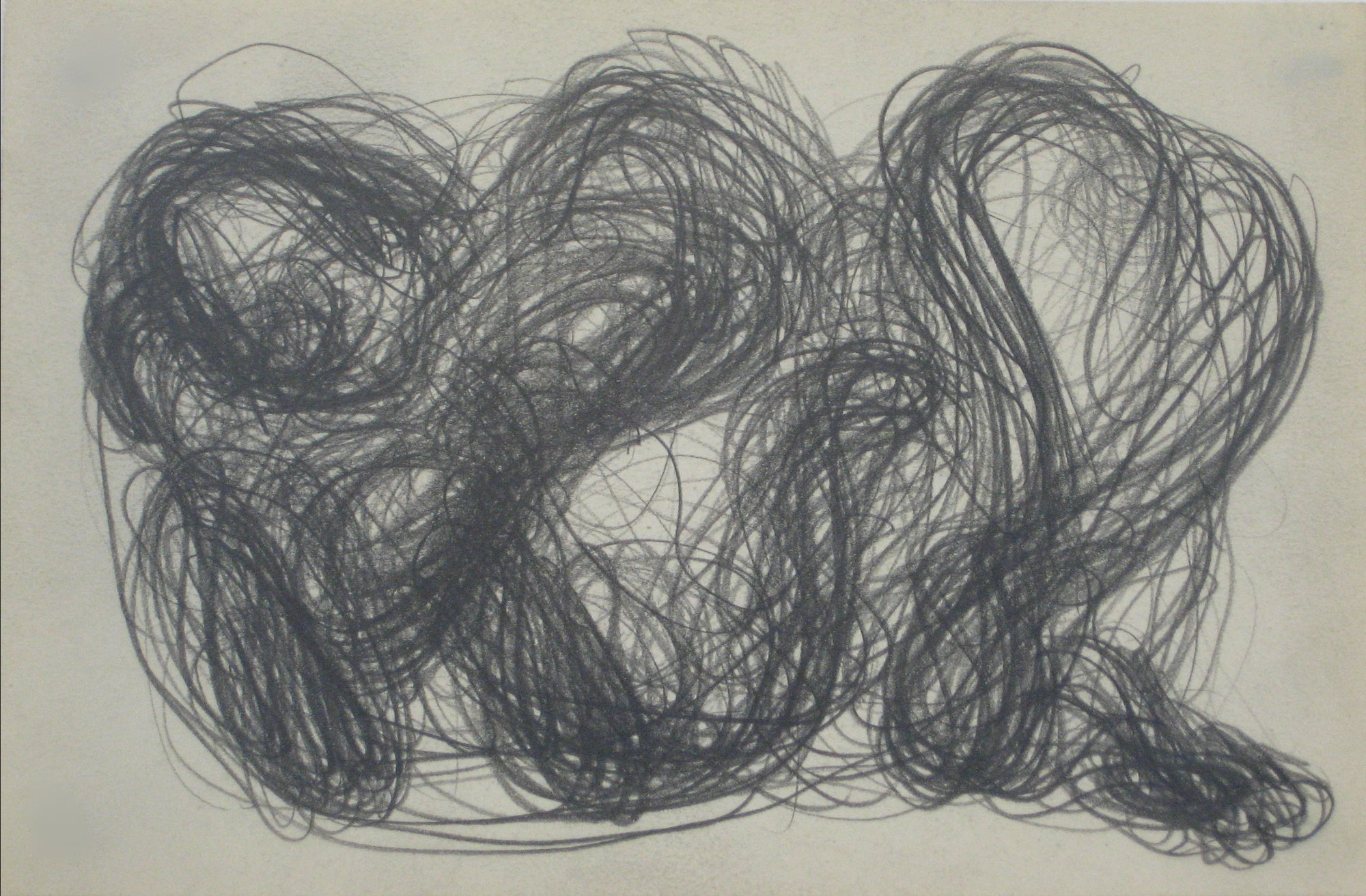 Swirled Graphite Abstract<br>Early-Mid 20th Century<br><br>#14081