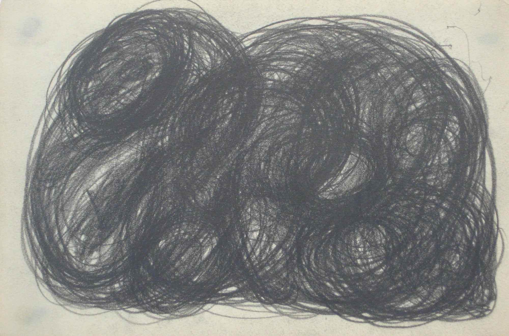 Swirled Graphite Abstract <br>Early-Mid 20th Century <br><br>#14084
