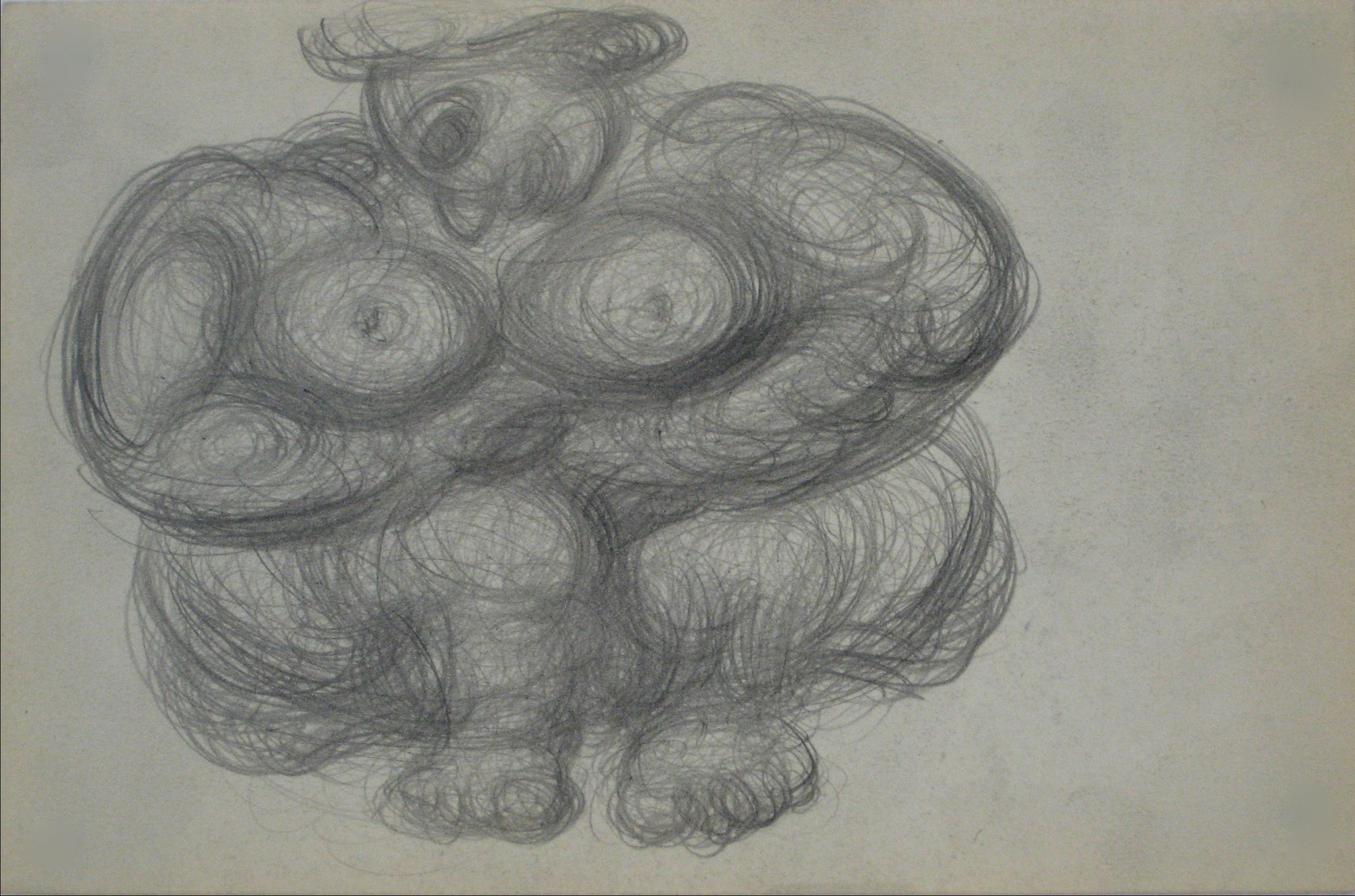 Swirled Abstract Graphite Figure <br>Early-Mid 20th Century <br><br>#14086