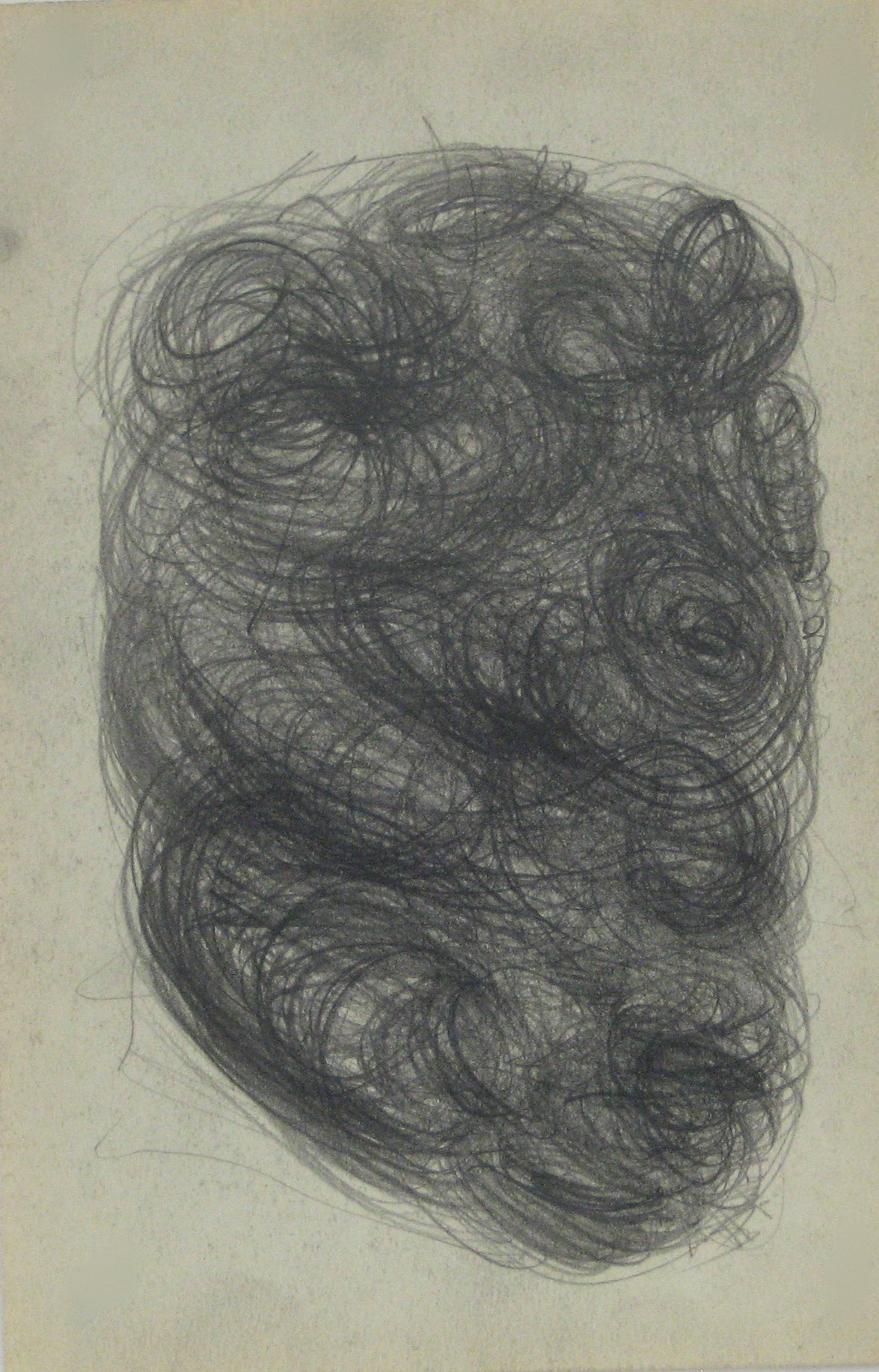 Swirled Graphite Abstract<br>Early-Mid 20th Century<br><br>#14088