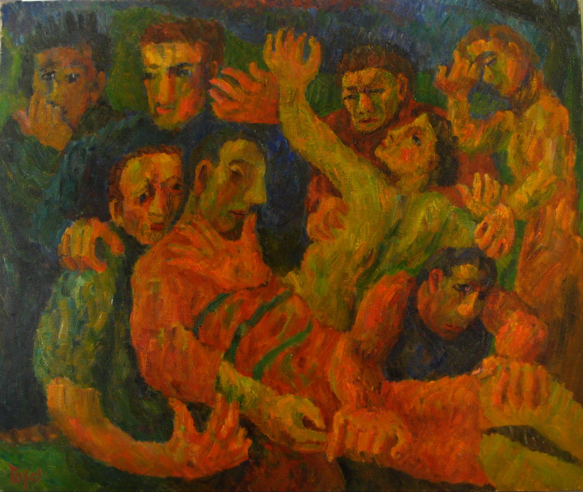 <i>Burial</i> <br>1946 Oil on Canvas <br><br>#14396