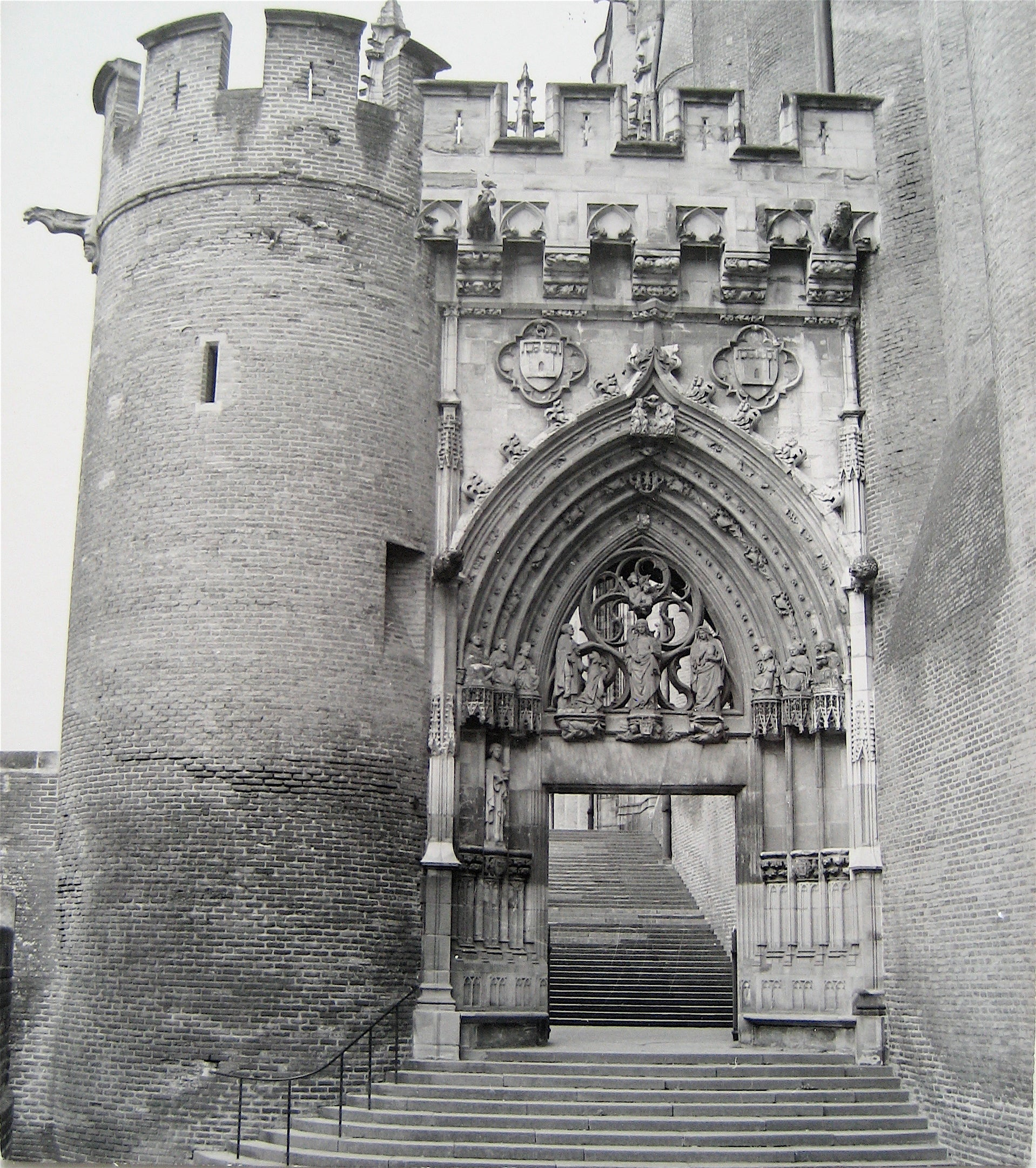 Arched Castle Doorway <br>1960s Photograph<br><br>#16260