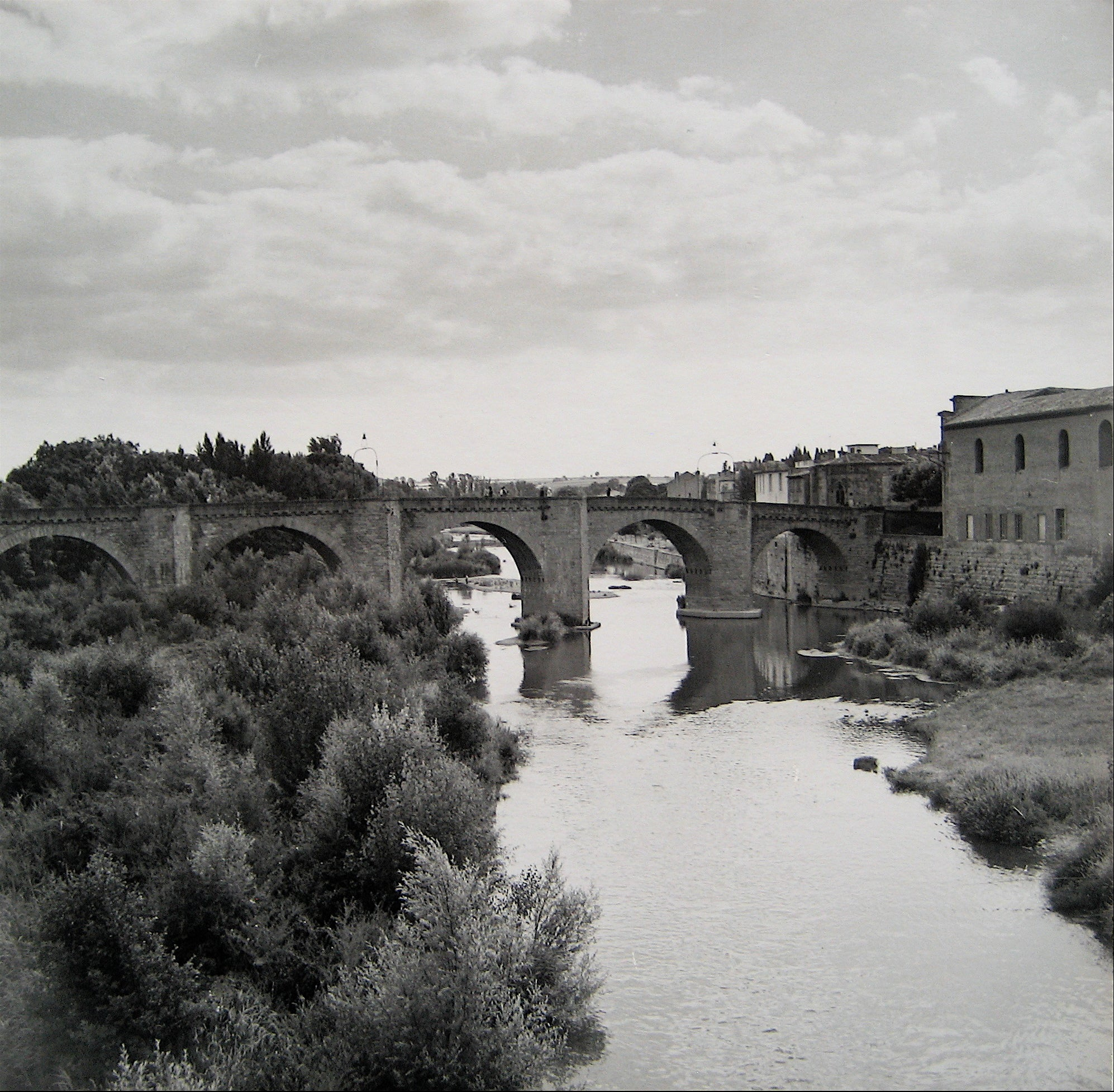 Bridge over Water <br>1960s Photograph<br><br>#16266