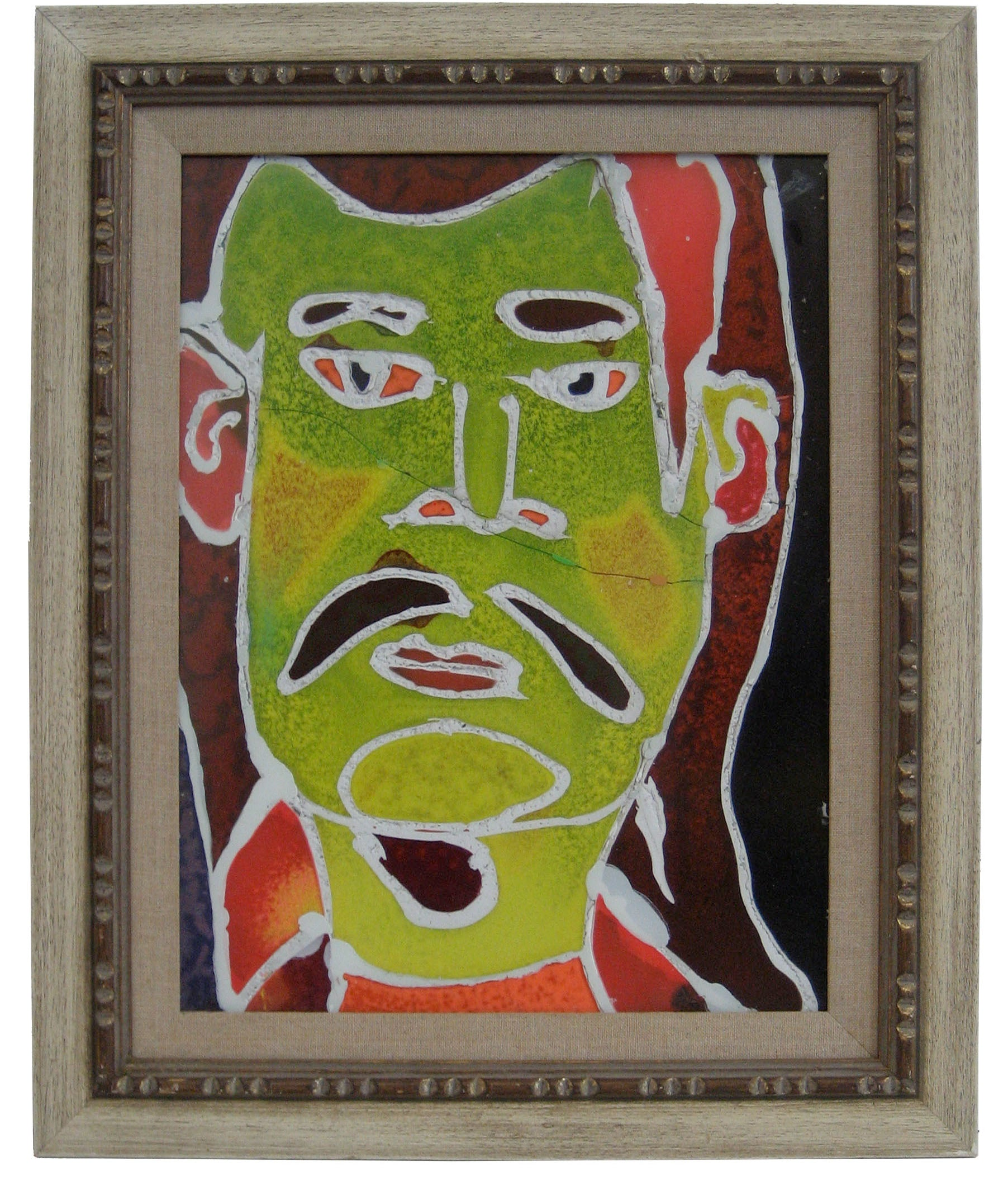 peter wither mid century acrylic self portrait