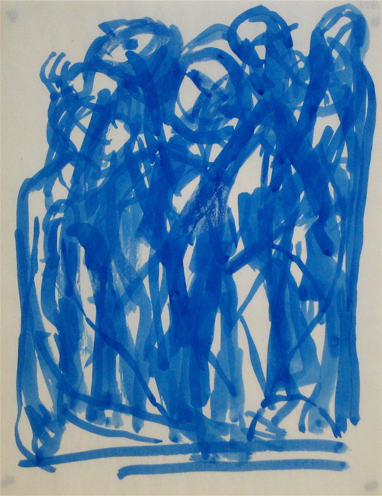 Expressionist Abstracted Figures<br>Early-Mid 20th Century Ink Wash<br><br>#11823