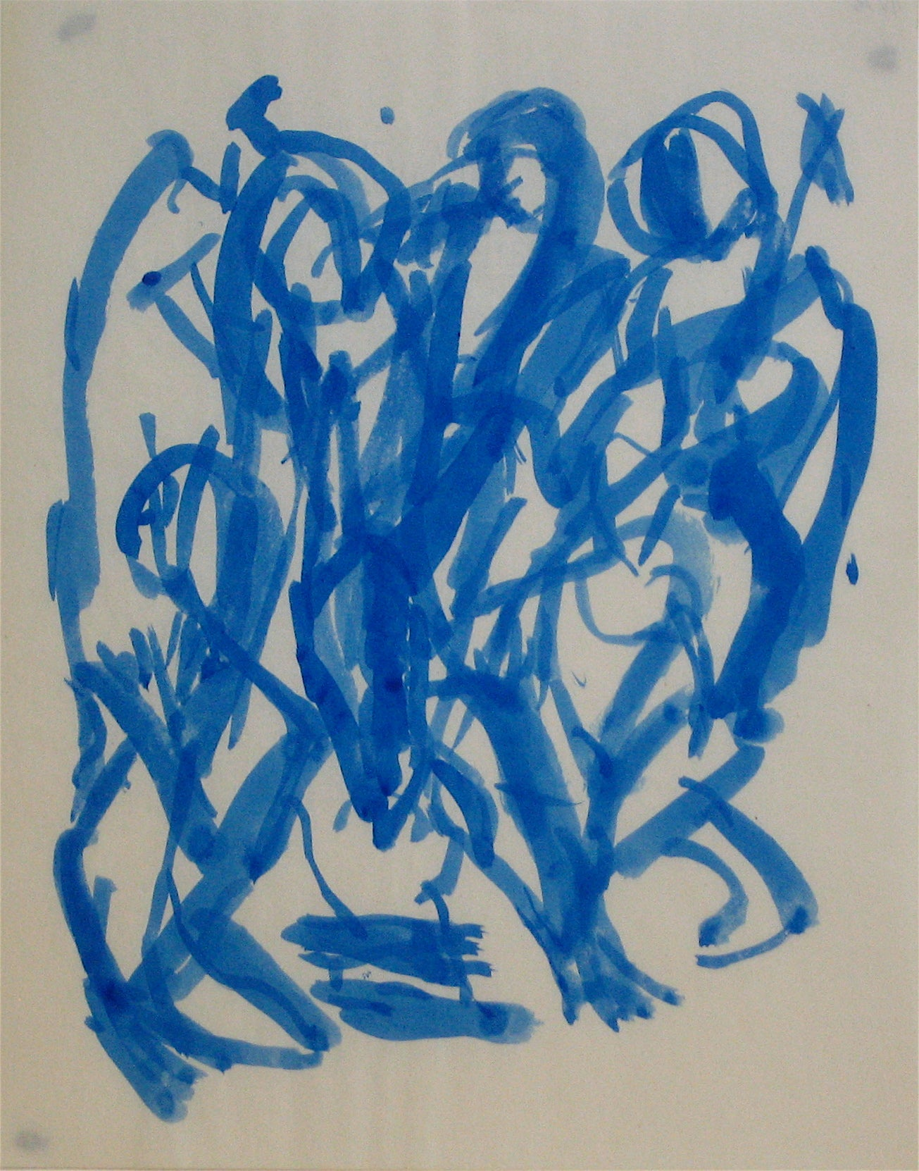 Expressionist Abstracted Figures<br>Early-Mid 20th Century Ink Wash<br><br>#11825