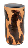 Tall Ceramic with a Stylized Rabbit Pattern<br>Mid Century<br><br>#19172