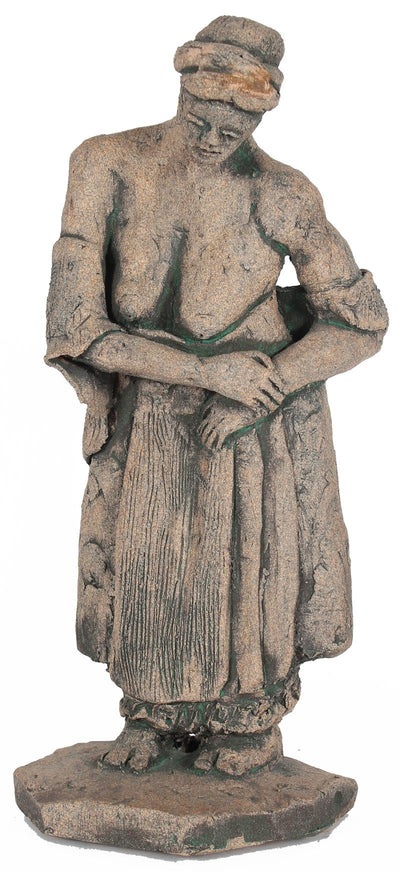 Bent Standing Woman<br>April 2000 Unglazed Clay<br><br>#20268
