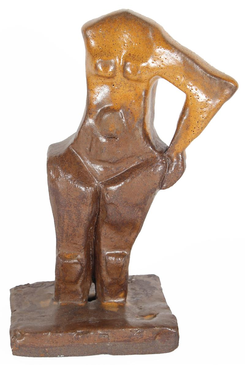 Abstracted Female Nude<br>2000 Clay Sculpture<br><br>#20275