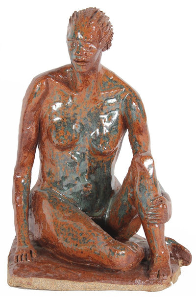 Seated Nude in Orange<br>2001 Clay Sculpture<br><br>#20290