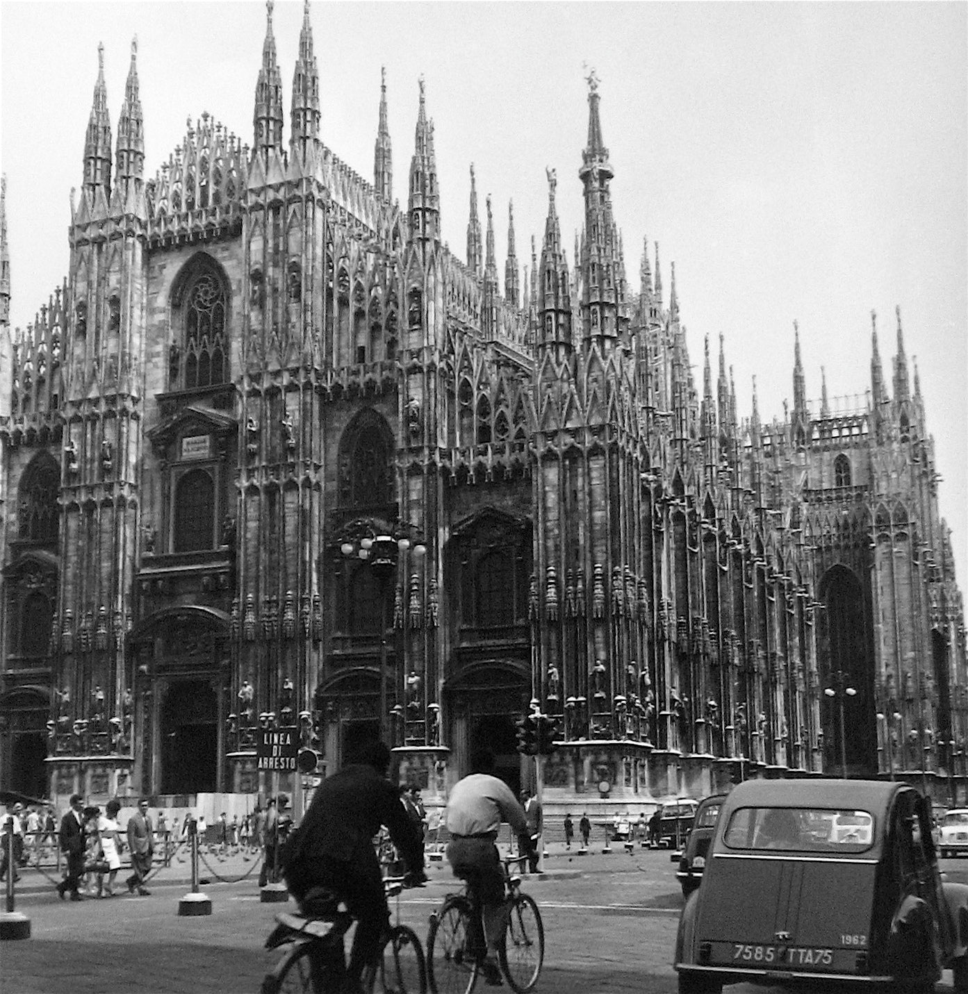 Gothic Cathedral in Milan, Italy<br>1960s Silver Gelatin Print<br><br>#12121