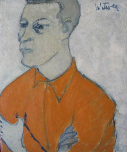 Modernist Portrait of a Man<br>Oil on Canvas<br><br>#2202A