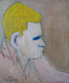Contemplative Man<br>Mid Century Oil<br><br>#2207A