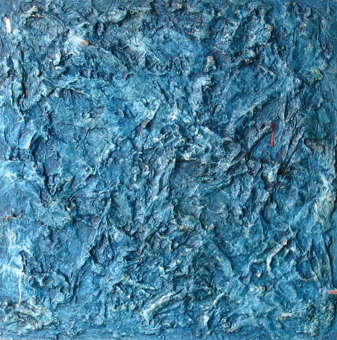Textured Abstract in Blue<br>Oil & Mixed Media<br><br>#2322A
