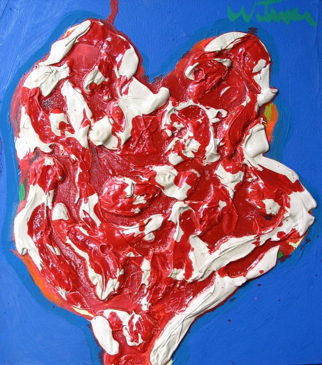 Textured Heart Abstract<br>Mid Century<br><br>#2338