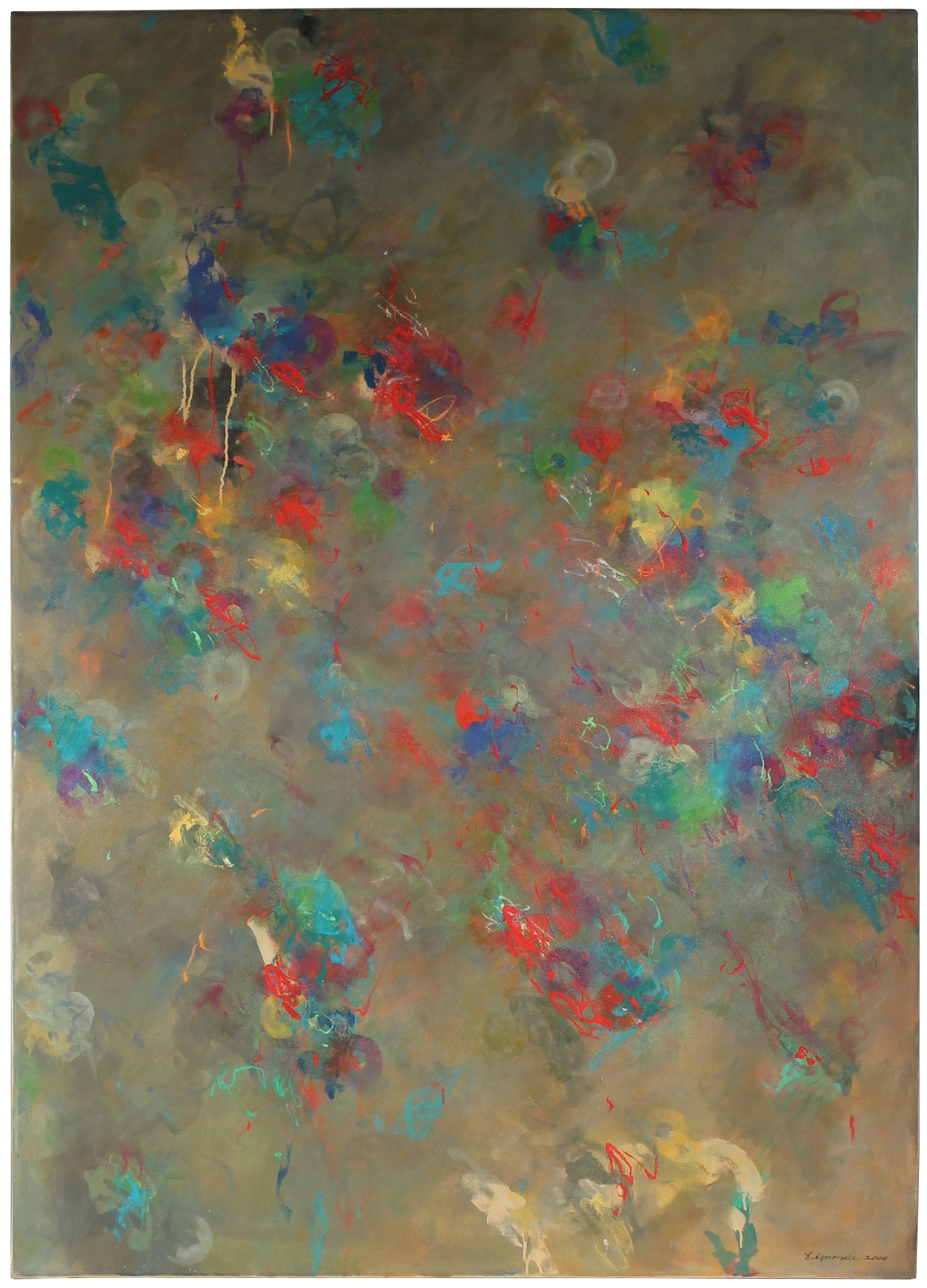 <i>Cacophony</i> <br>2000 Oil & Mixed Media <br><br>#25819