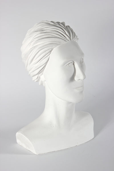 Modernist Femal Bust <br>20th Century Plaster <br><br>#25913