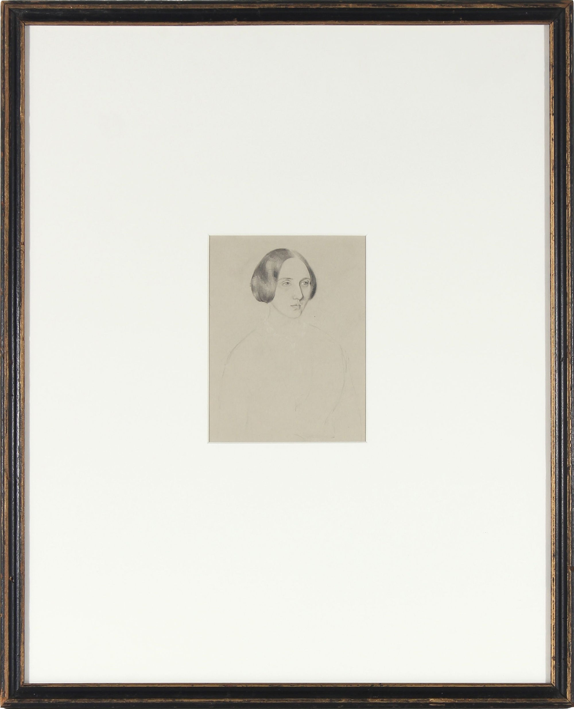 Seated Study, Graphite<br>Early-Mid 1800s<br><br>#10104