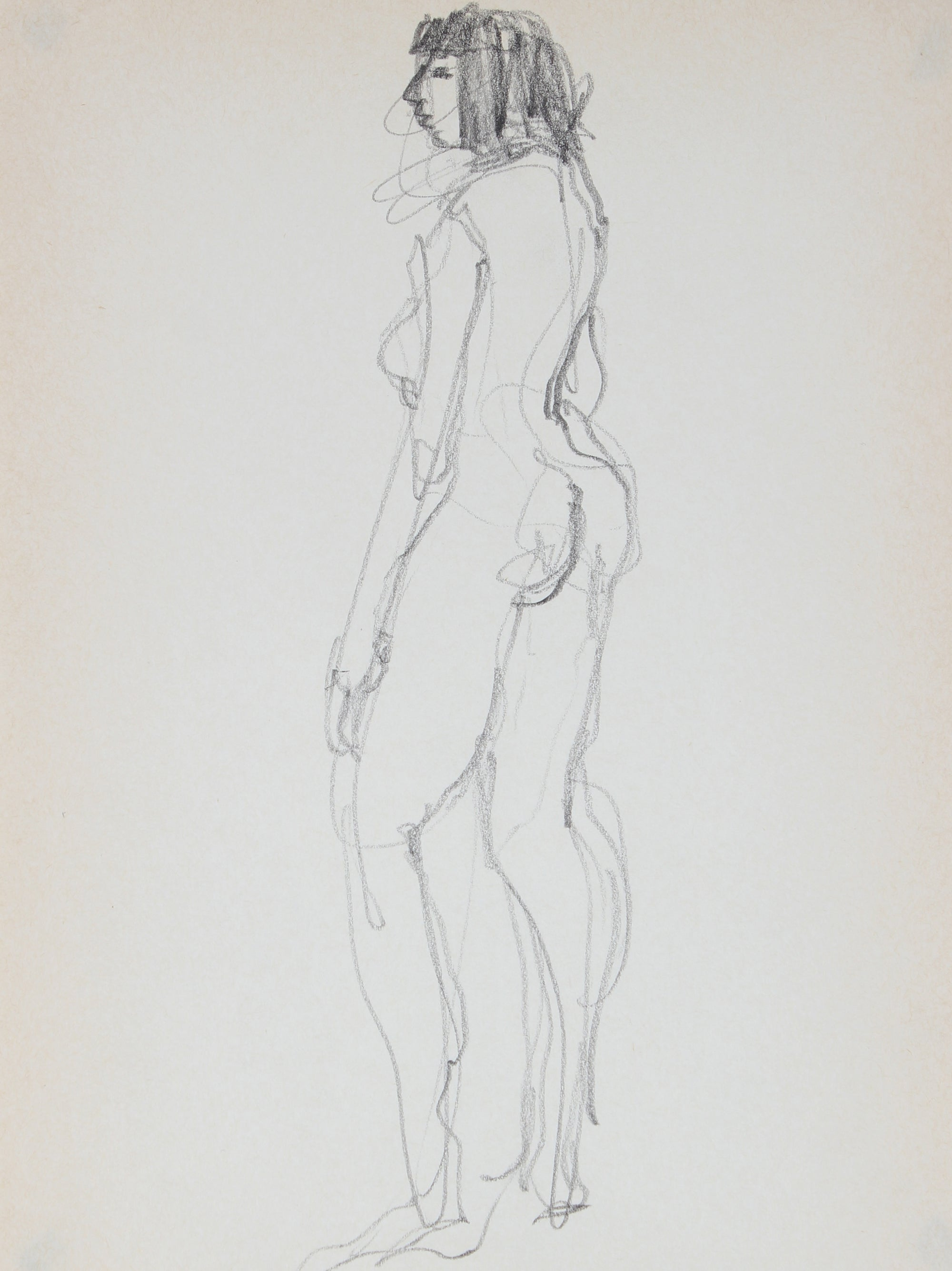 Standing Female Nude Study <br>1989 Graphite <br><br>#30024