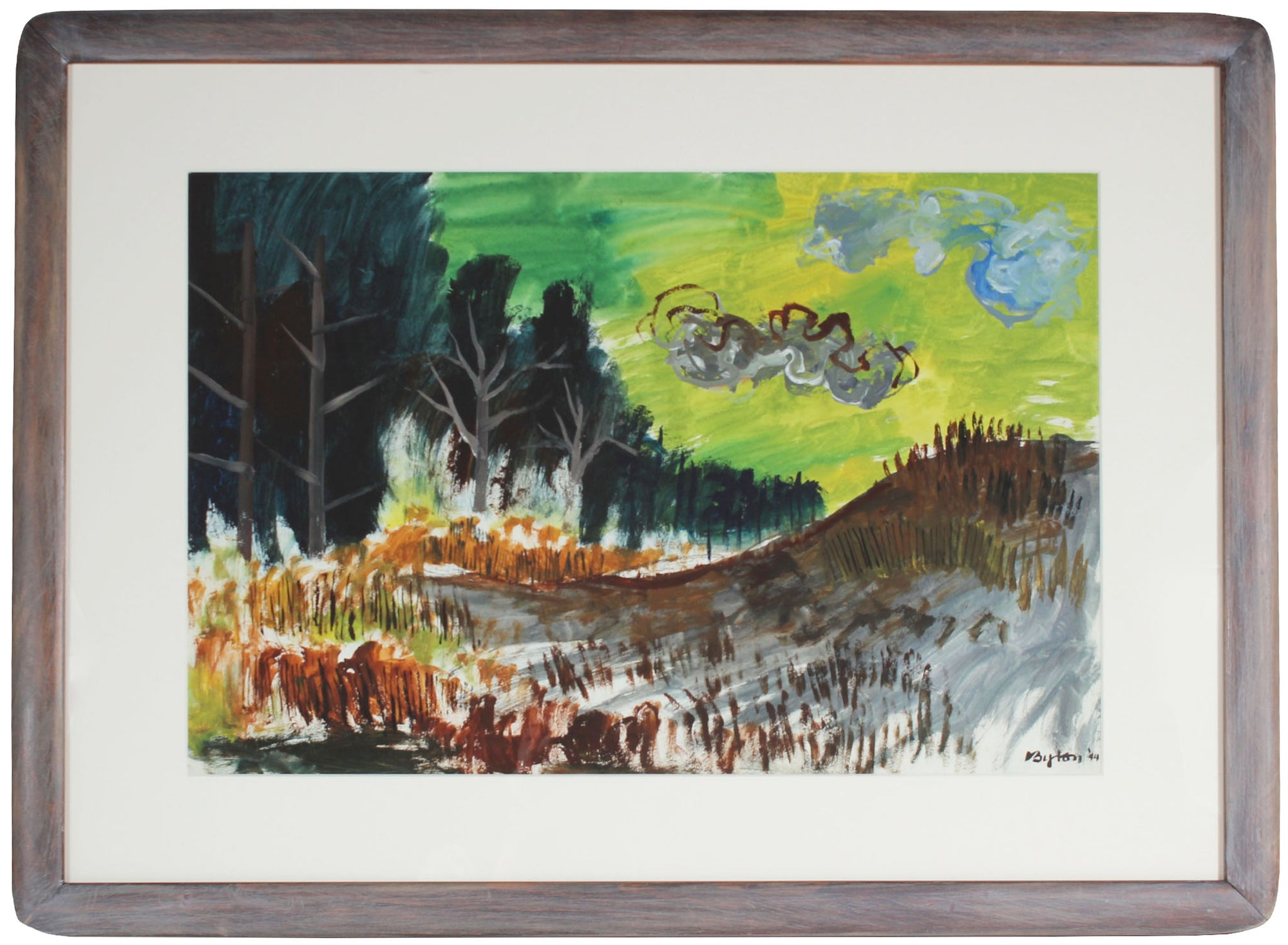 <i>Landscape with Green Sky</i><br>1944 Gouache<br><br>#31350