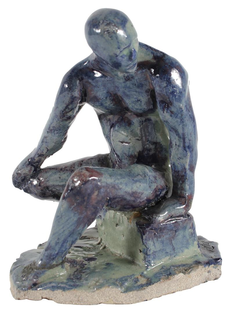 Blue Man Nude<br>2003 Ceramic<br><br>#31993