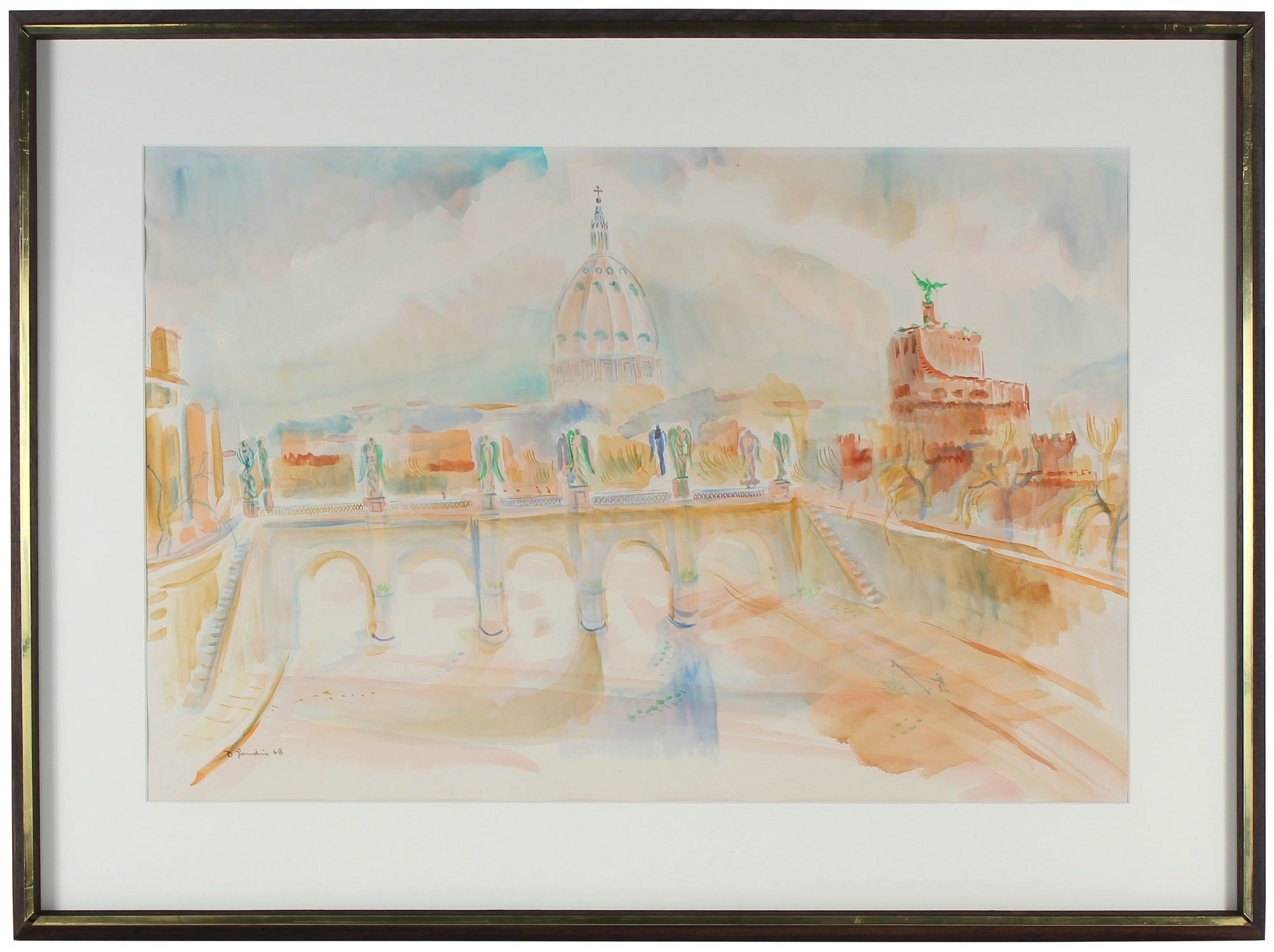 <i>Morning, Tiber, Rome</i><br>Watercolor, 1968<br><br>#33000