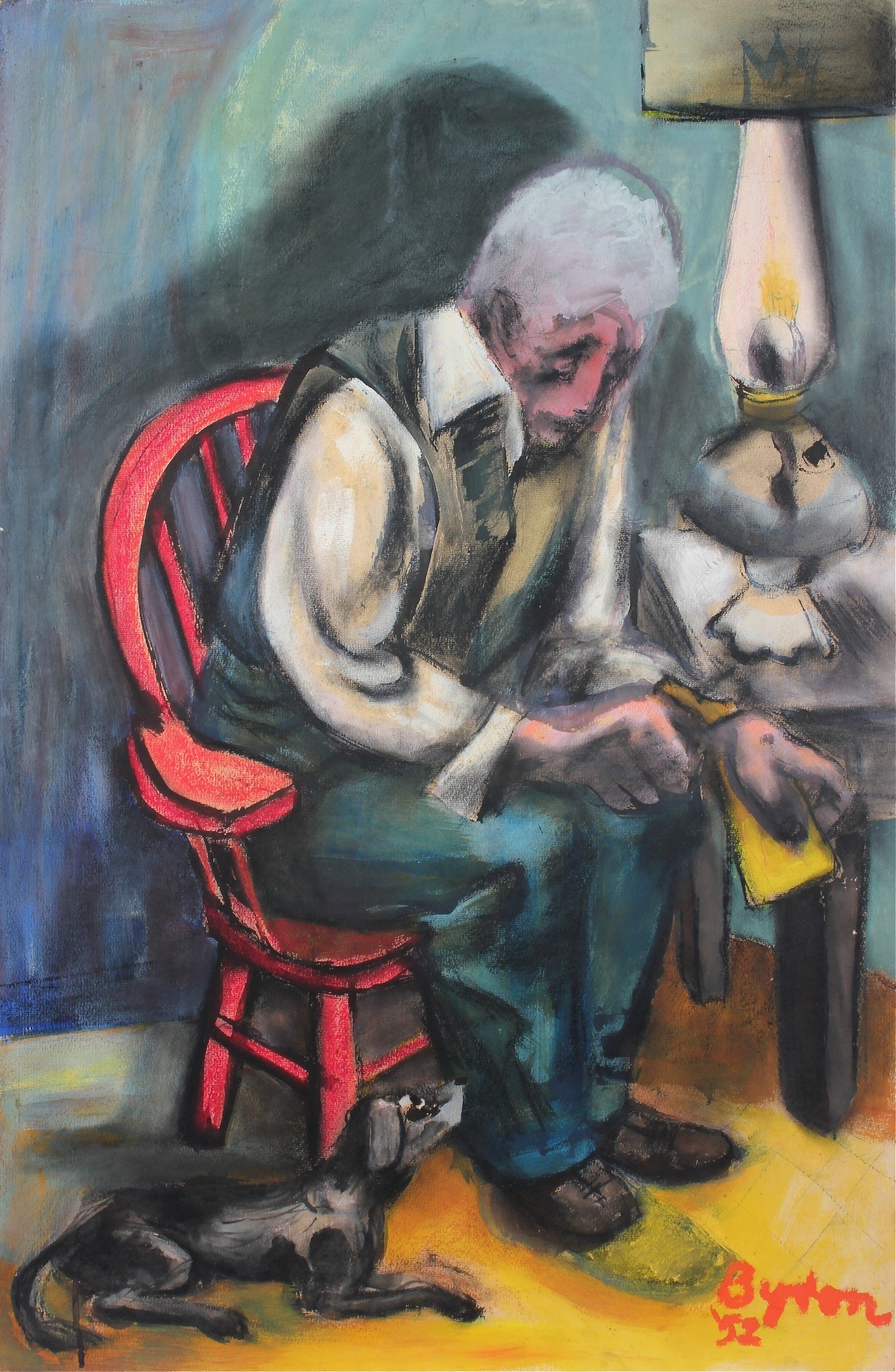 <i>Next of Kin</i><br>1952 Oil Pastel & Casein<br><br>#33548