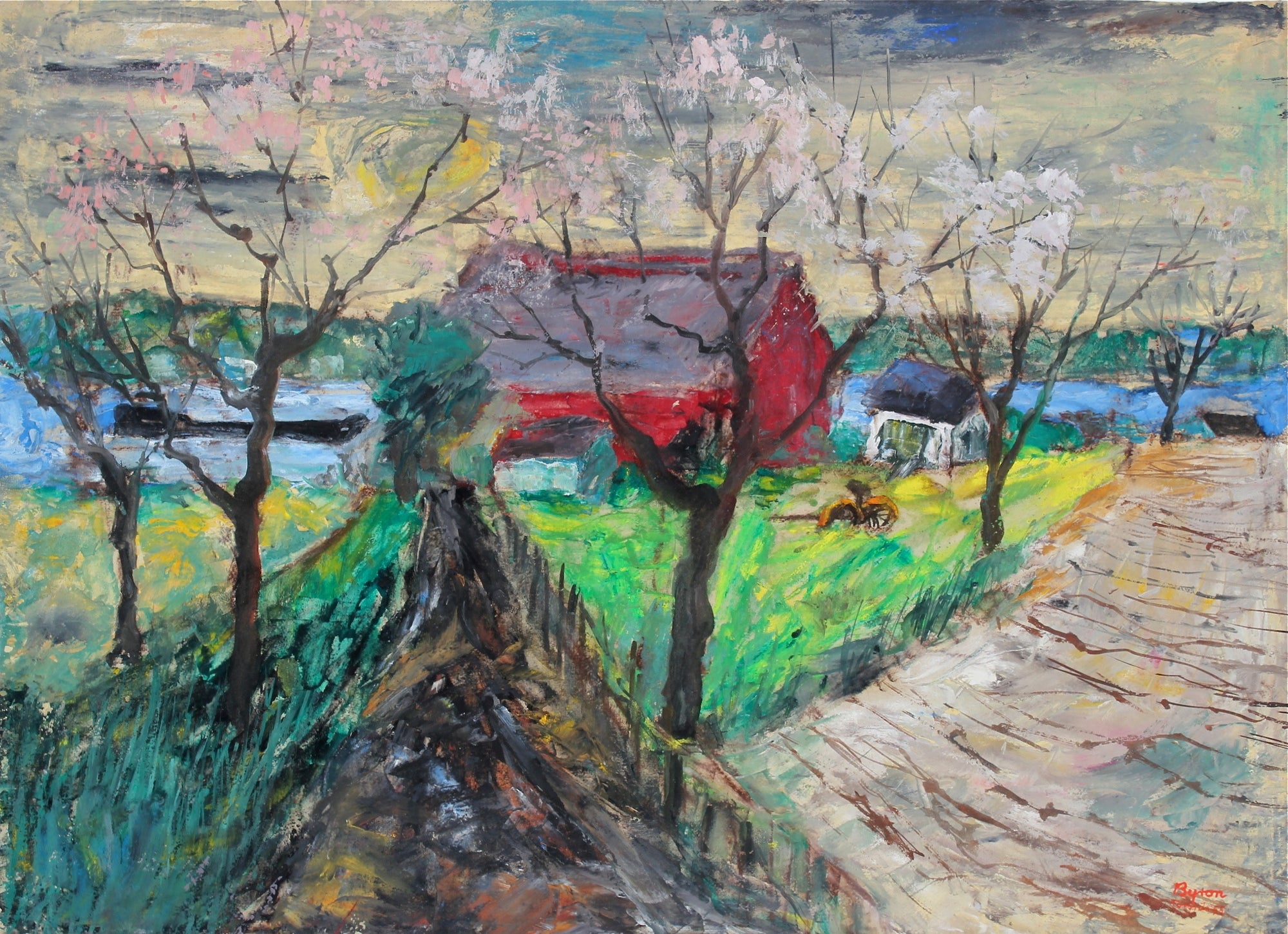 <i>Spring Fields, Sheek Island</i><br>1955 Oil & Casein<br><br>#33561