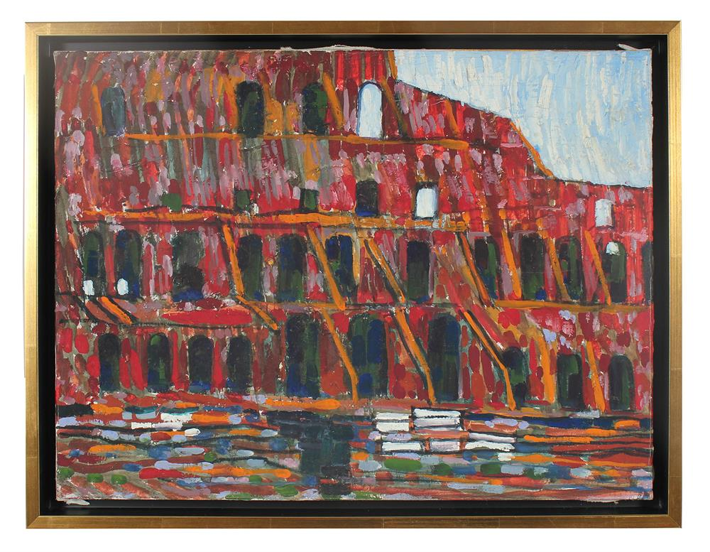 <i>The Colosseum, Rome</i><br>1971 Oil<br><br>#31666