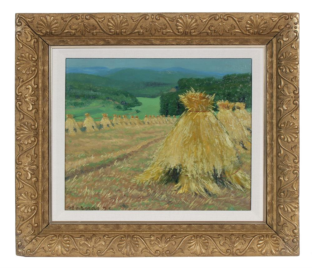 <i>Oat Harvest</i><br>1925 Oil<br><br>#93592