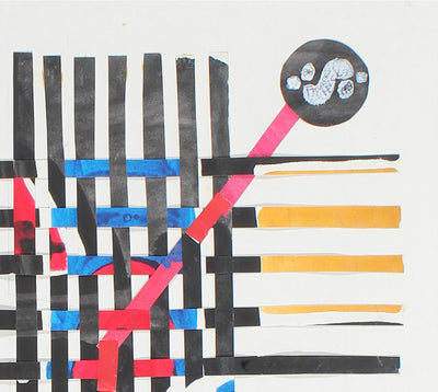 <i>Freefall</i> <br>20th Century Acrylic & Woven Collage <br><br>#36866