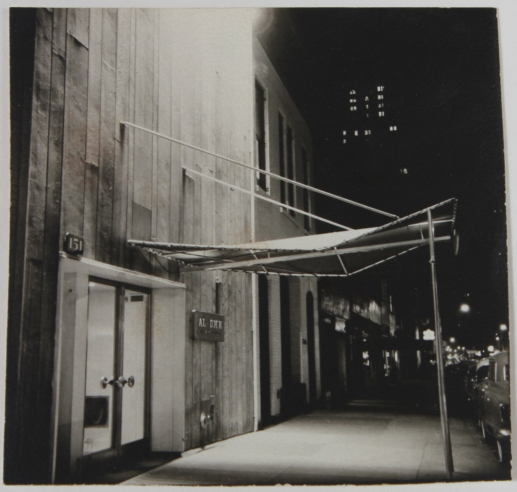 City Street at Night <br>1960s Photograph <br><br>#38099