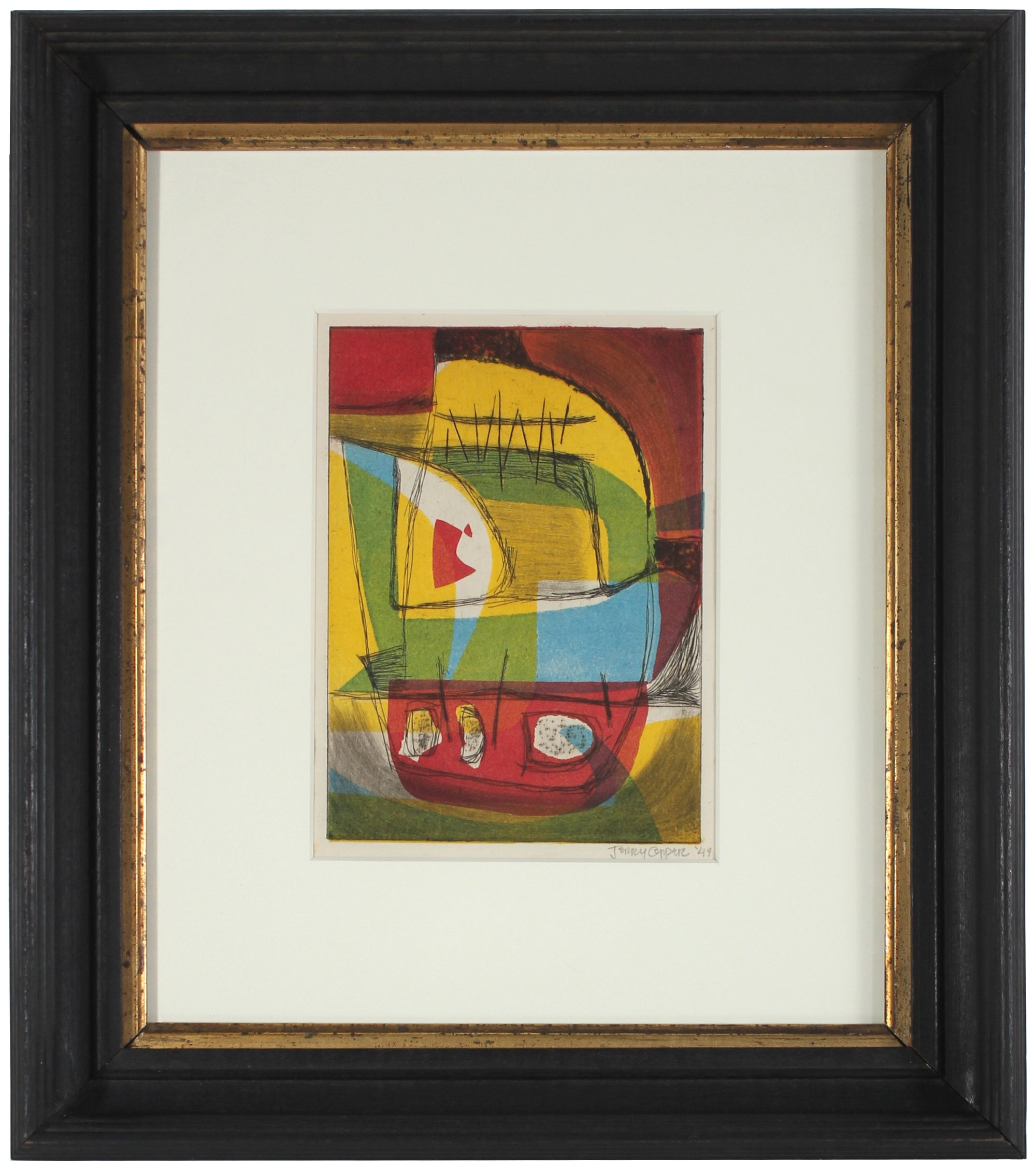Abstract in Primary Colors<br>1949 Etching<br><br>#40966