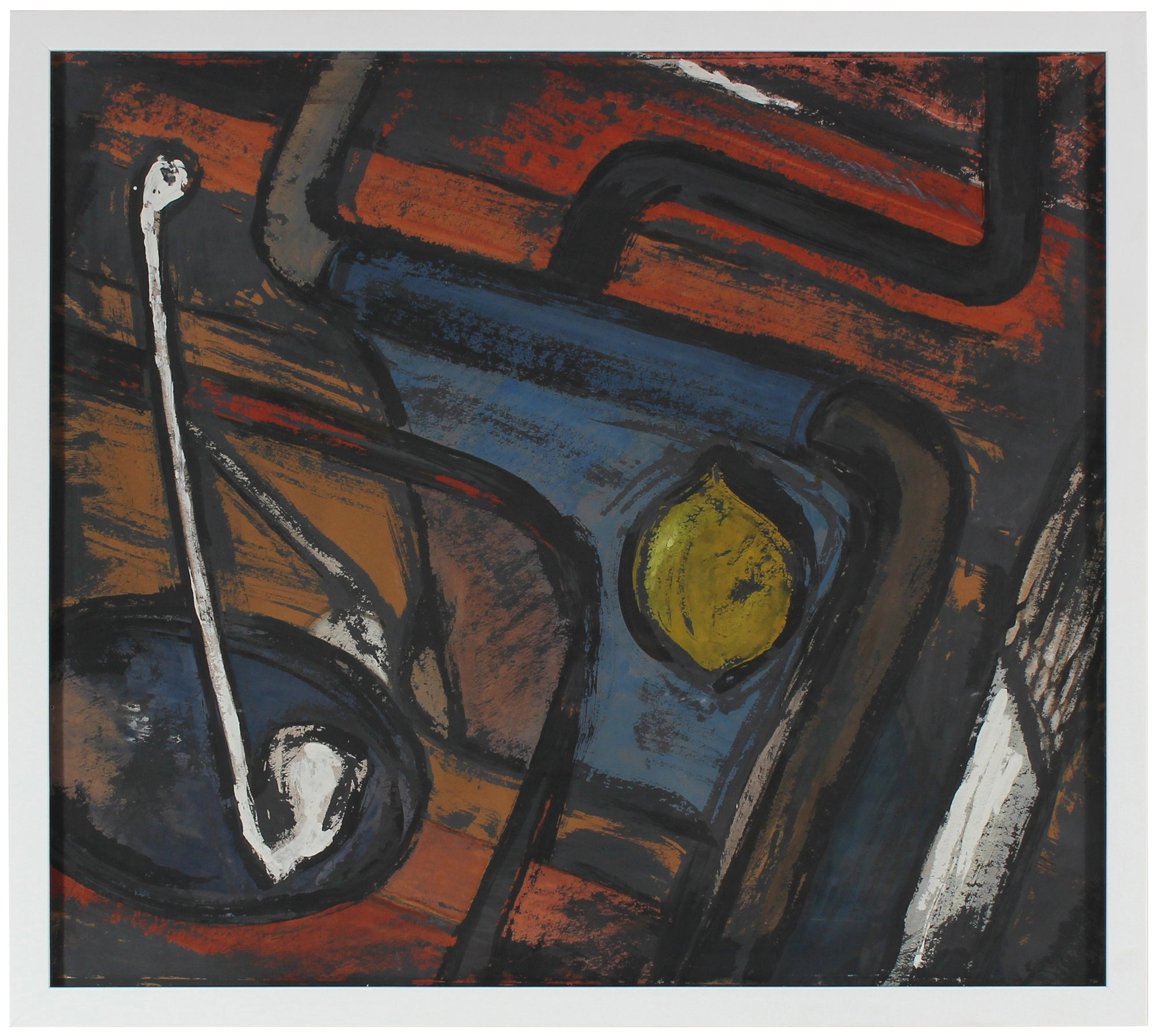 Abstract Expressionist Still Life <br>1940-50s Gouache <br><br>#41006