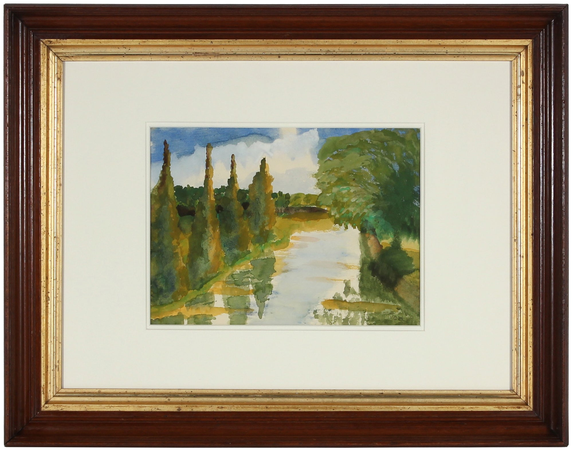Charles Hutson Drawing & Watercolor - Lost Art Salon