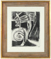 Abstracted Organic Forms<br>1940-50s Stone Lithograph<br><br>#38906