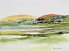 West Marin, California Abstracted Watercolor<br>Late 20th - Early 21st Century<br><br>#43847