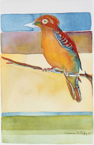 Colorful Watercolor Bird<br>Late 20th - Early 21st Century<br><br>#43908