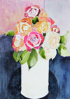 Warm Rose Watercolor Bouquet<br>Late 20th - Early 21st Century<br><br>#44000