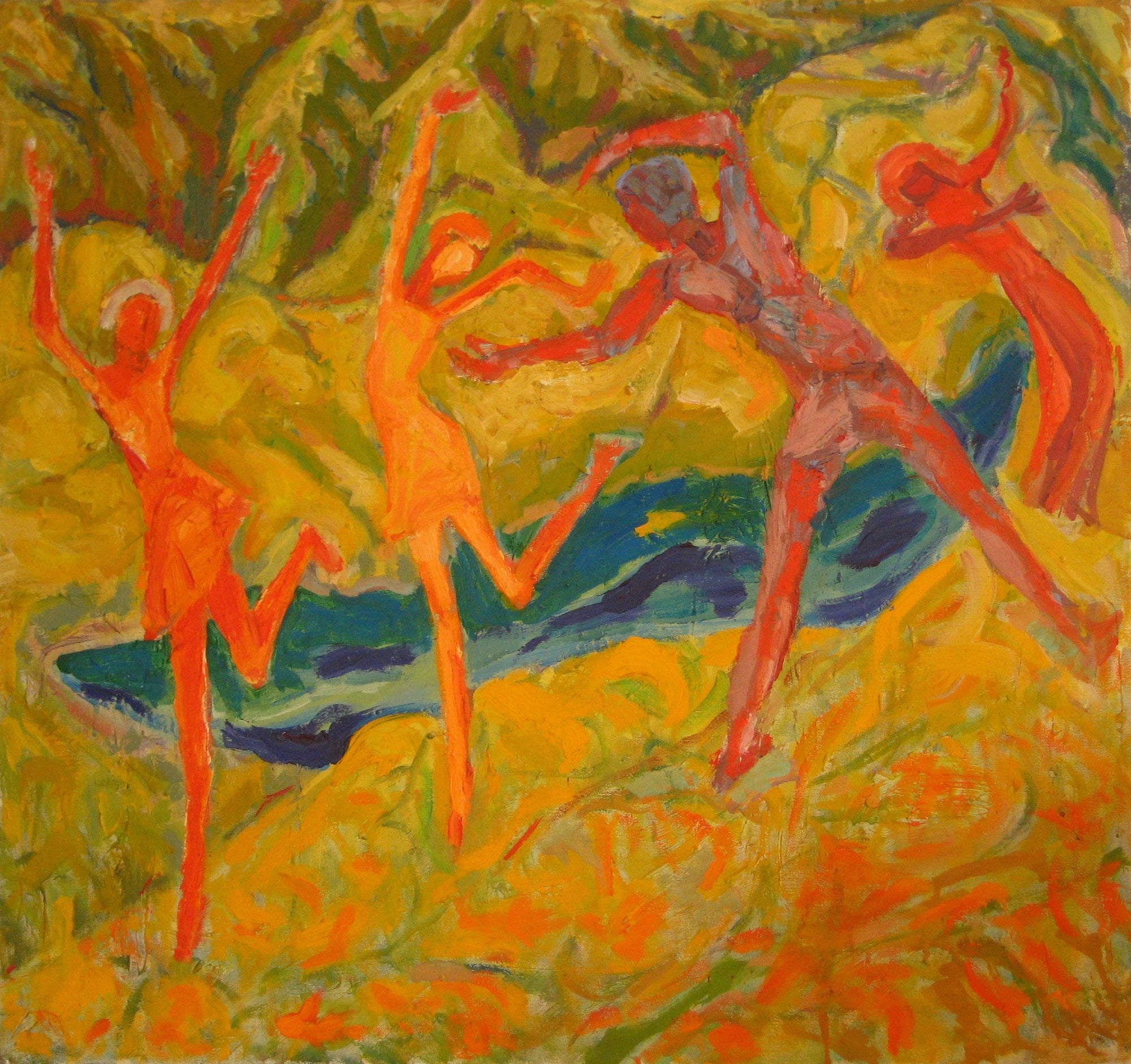 <i>Dance</i><br>Mid Century Oil<br><br>#4859