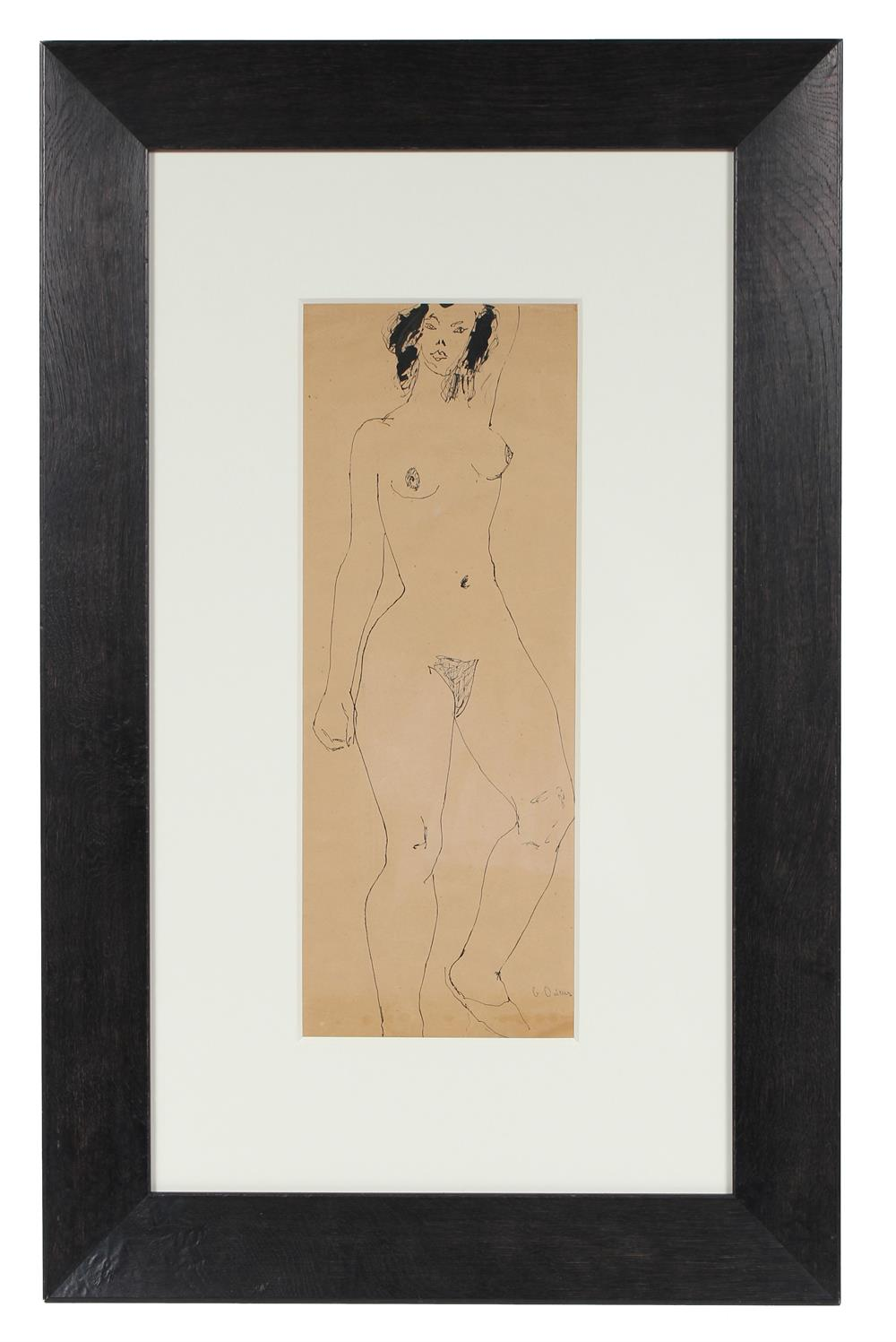 georgette london owens 1940s female nude drawing