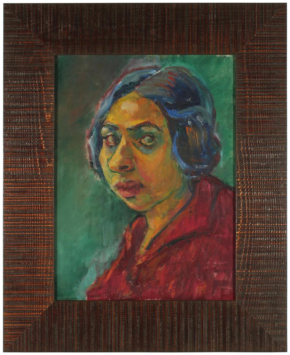 Portrait of Ethel Weiner<br>Late 1940s Oil<br><br>#49523
