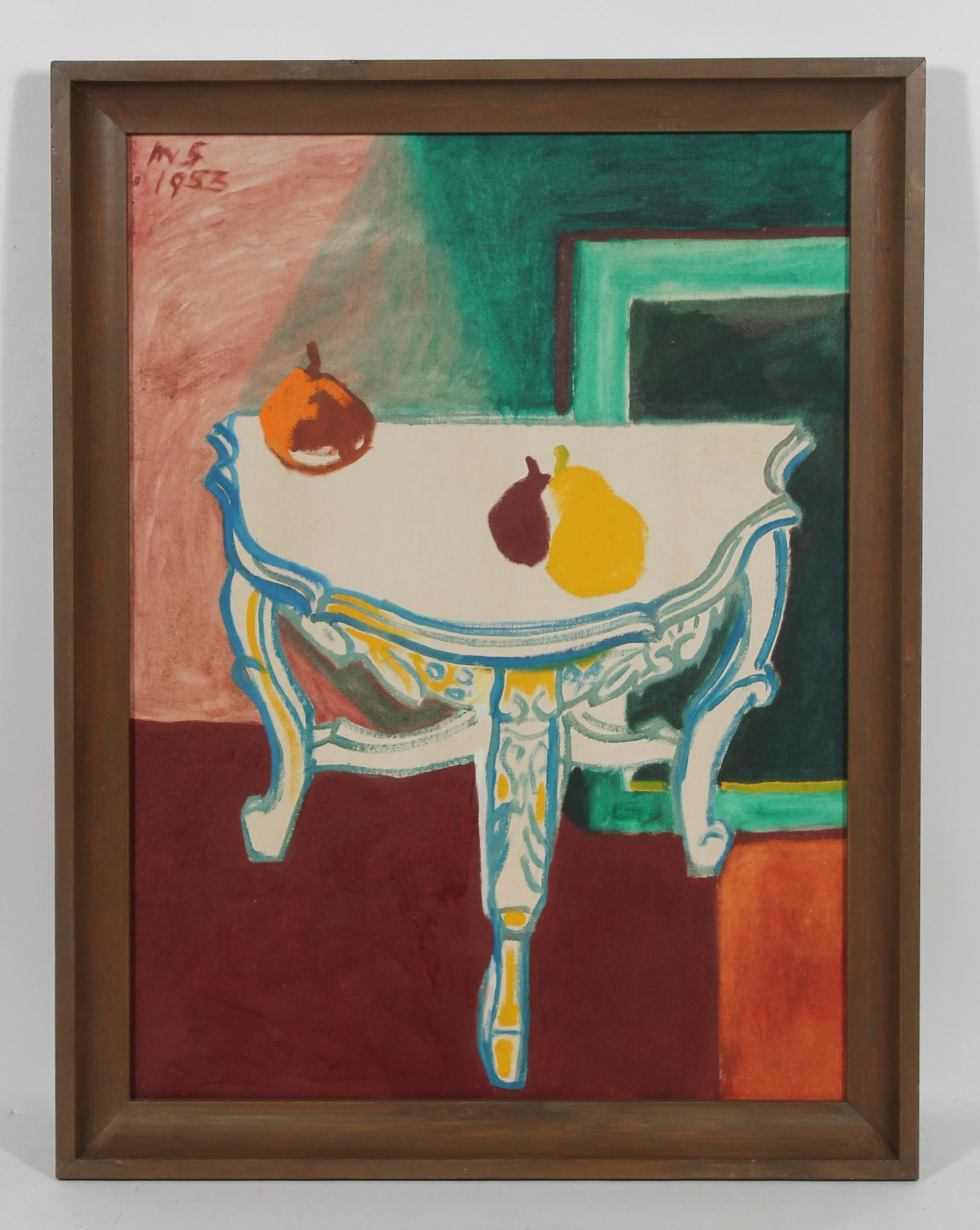 Cubist Tabletop Still Life<br>1953 Oil<br><br>#50620