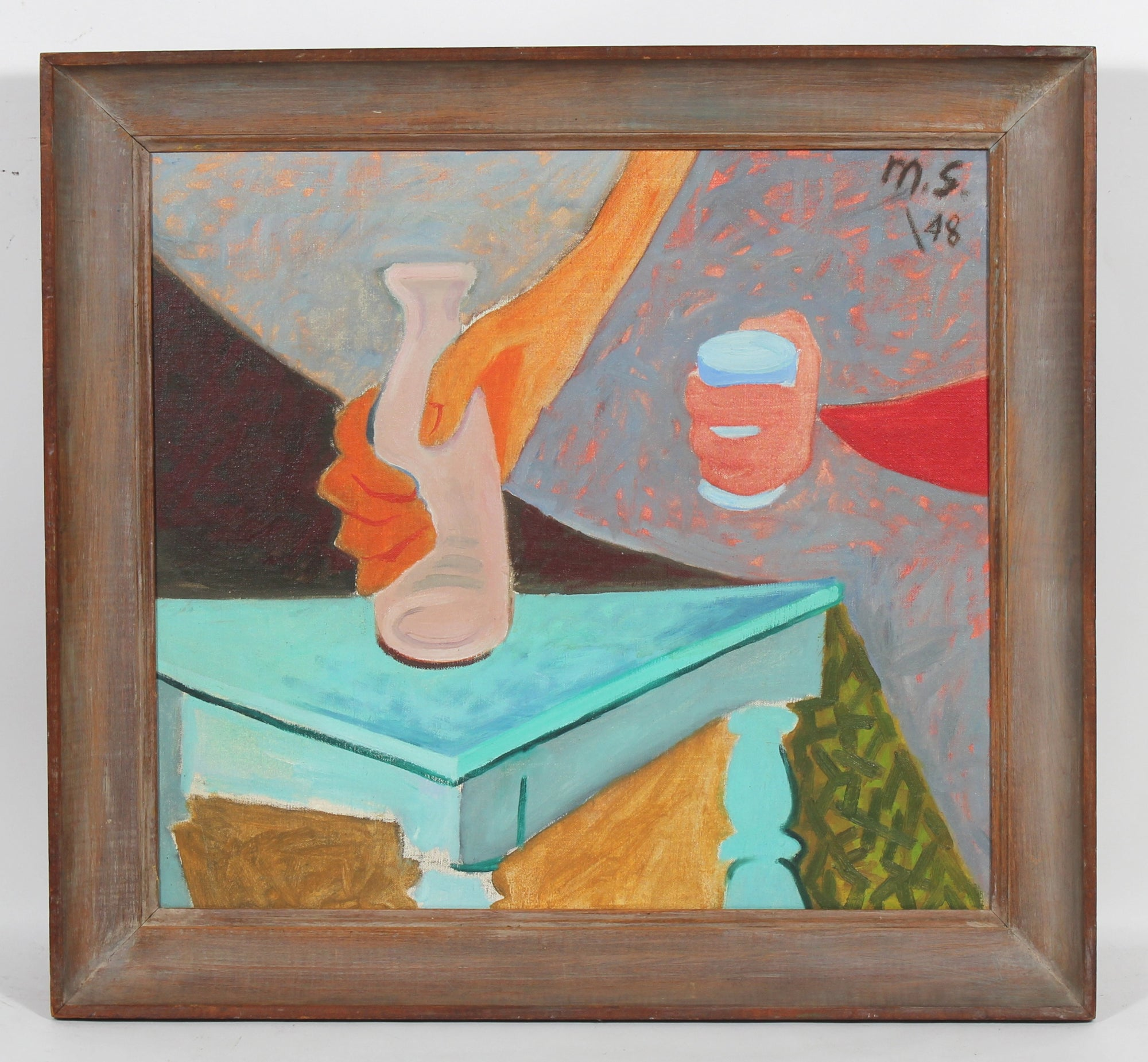 <I>Still Life with Hands</i><br>1948 Oil<br><br>#50639