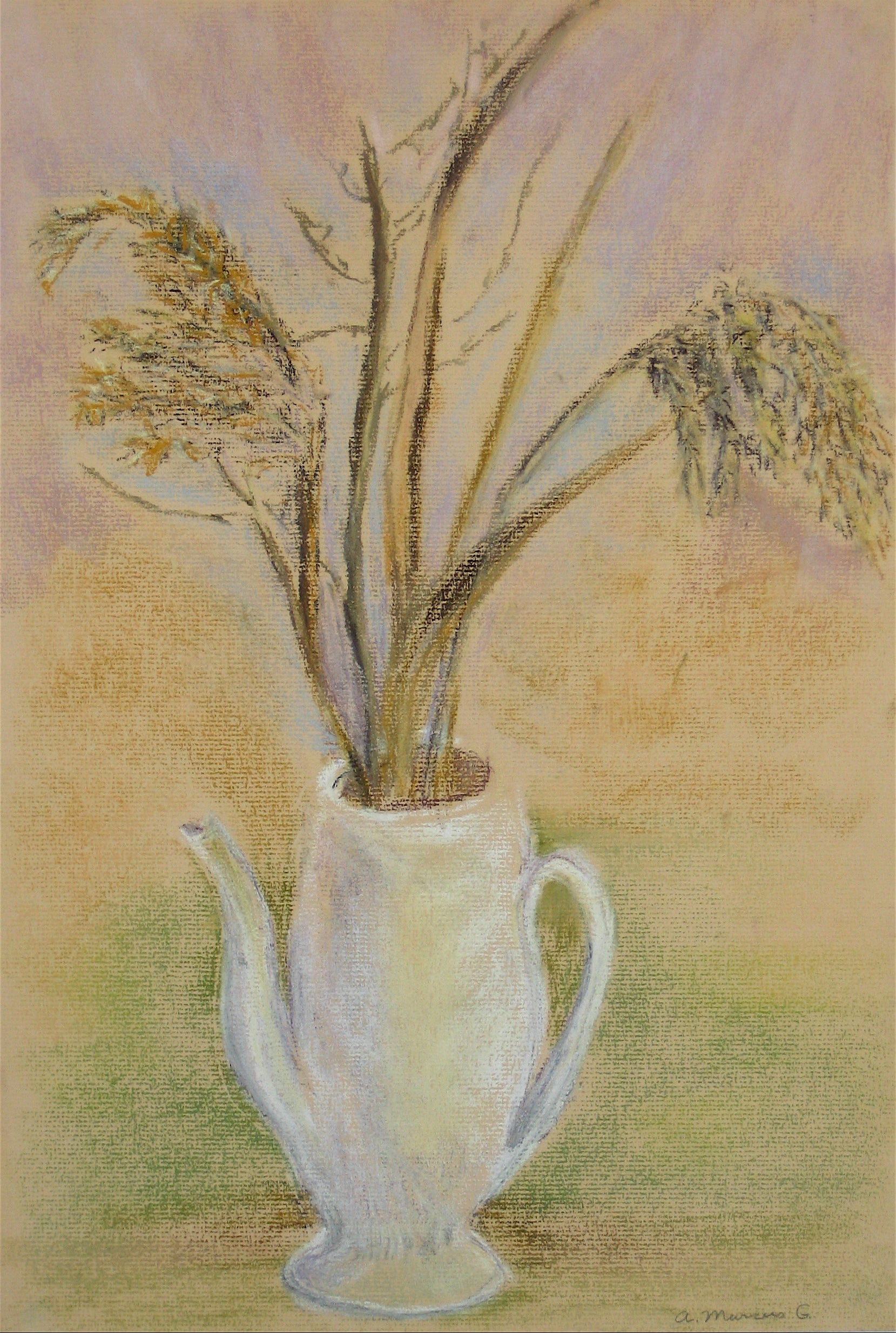Branches in a Tea Pot<br>Pastel, 1965<br><br>#15111