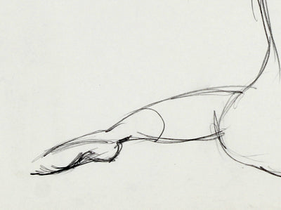Dancer Stretching<br>1974 Graphite<br><br>#51695