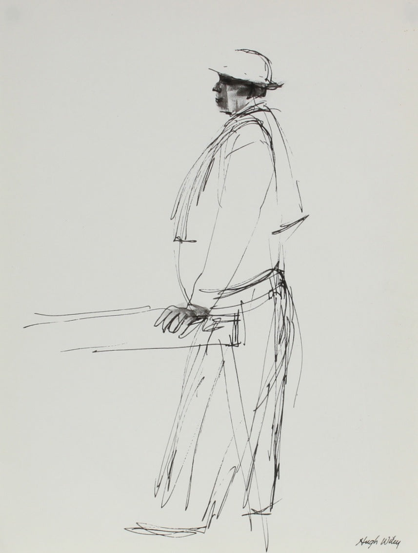Construction Worker Sketch<br>1974 Ink<br><br>#52144