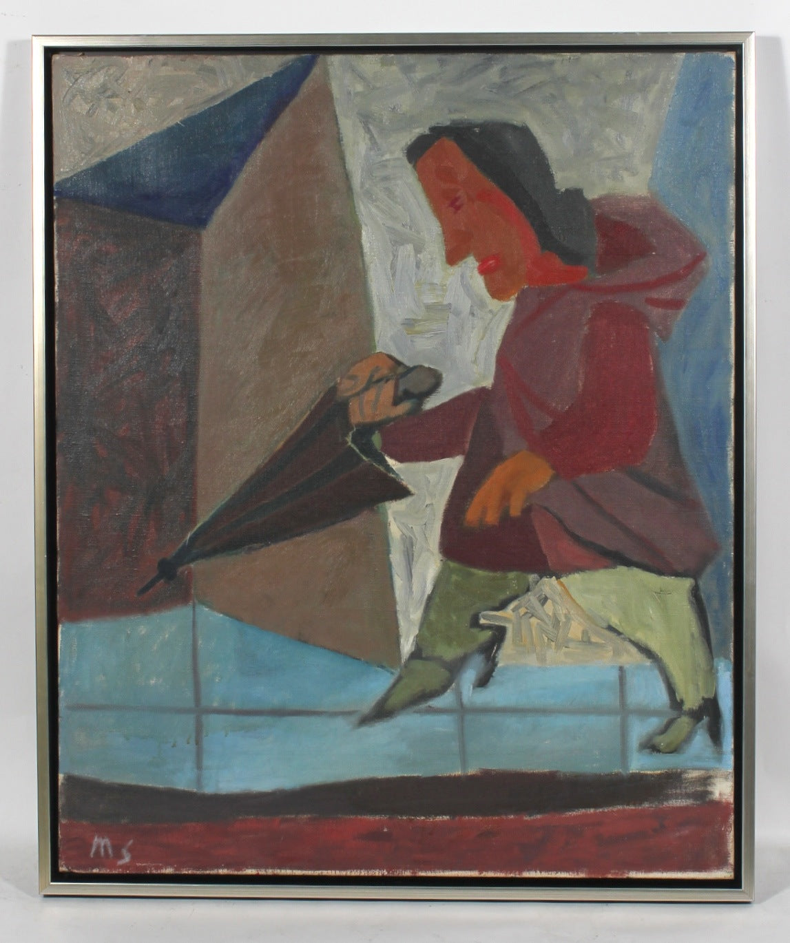 <i>The Umbrella</i><br>1949 Oil<br><br>#52243