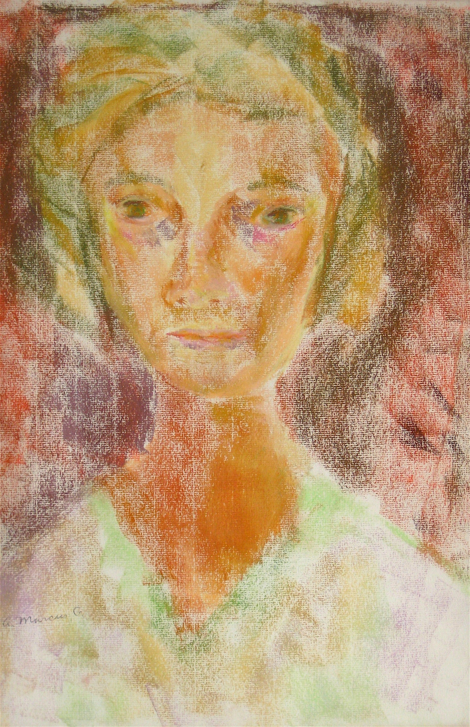 Pastel Portrait in Red<br>1964<br><br>#15268
