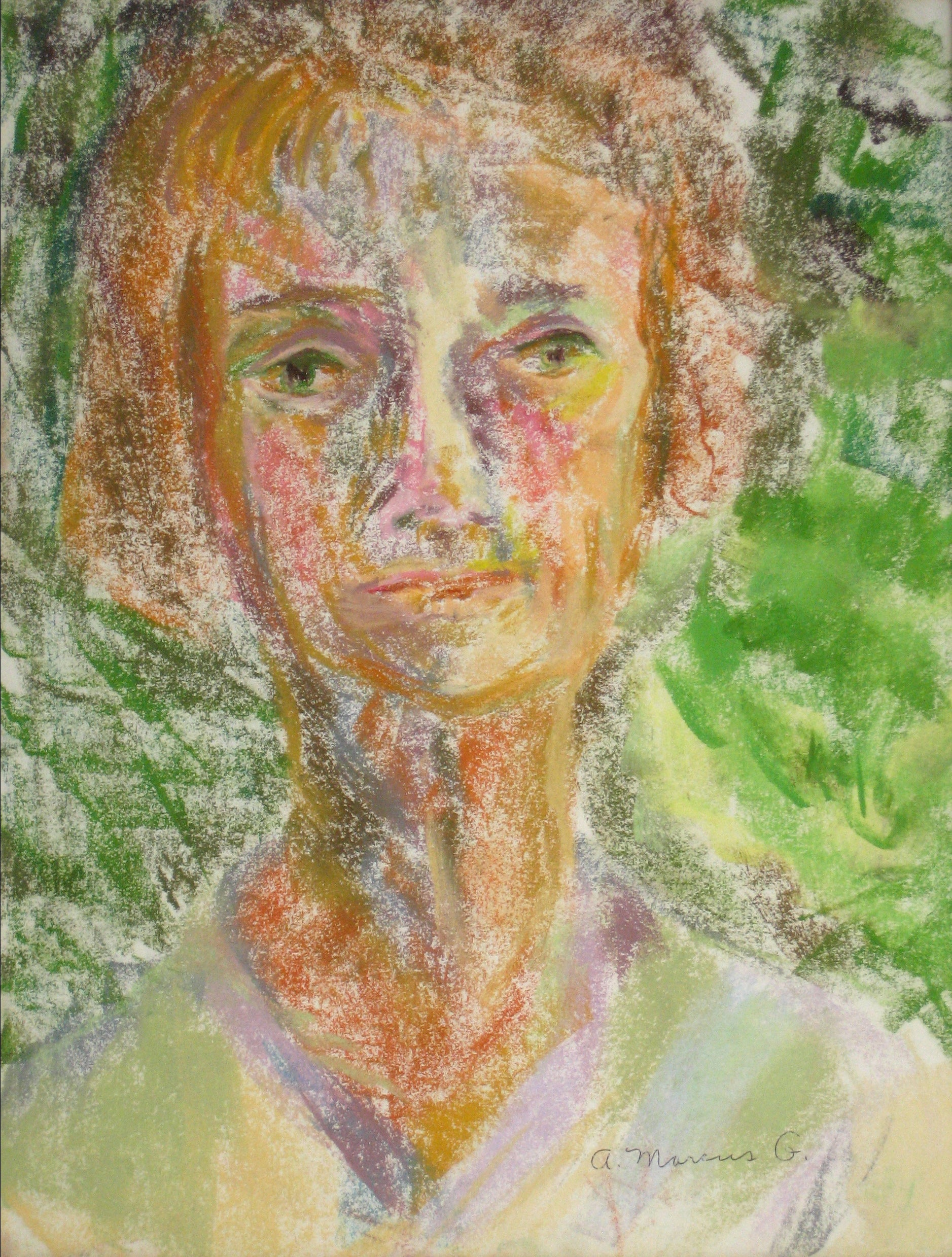 <i>Portrait No. 1</i><br>Pastel, 1964<br><br>#15276